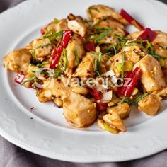 Kung-pao z kuřete recept - Vareni. Kung Pao Chicken, Potato Salad, Food And Drink, Fit, Ethnic Recipes, Diets