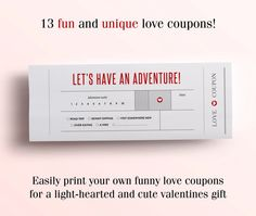 For all the fun loving couples out there looking for a unique gift, these Printable Love Coupons are made just for you!! Designed to bring fun, laughter and cuteness with each coupon, these are love coupons with a twist. Give your loved one the gift of trading in the following