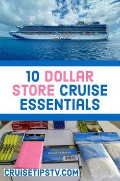 For some, packing for a cruise can be confusing and expensive, but it doesn't have to be! By leveraging dollar store shopping for a cruise, you can save lots of Cruise Packing Tips, Cruise Travel, Cruise Vacation, Disney Cruise, Vacation Ideas, Vacations, Cruise Excursions, Cruise Destinations, World Cruise