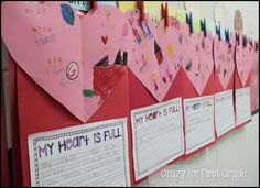 """Writing Activity, """"My Heart is Full"""" (free; from Crazy for First Grade)"""