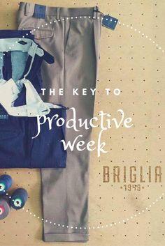 Comincia la settimana nel migliore dei modi! La nuova collezione BRIGLIA 1949 ti aspetta presso il nostro store 😉