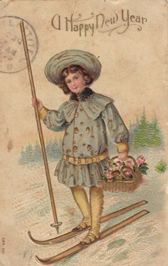 vintage card- Happy New Year 1900s
