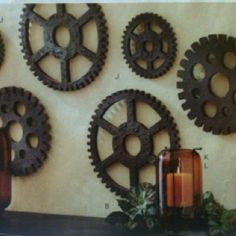 Gears For Wall Art. If You See These Laying Around Or At A Yard Sale
