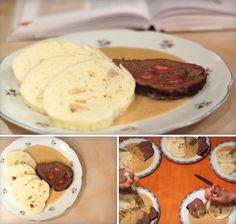 Hovězí pečeně na smetaně - svíčková Stew, Muffin, Food And Drink, Lunch, Meat, Dinner, Cooking, Breakfast, Recipes