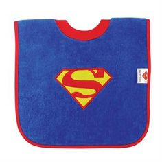 Bumkins Cotton Terry Pullover Bib Superman for sale online Superman T Shirt, Pullover Designs, Personalized Baby, Baby Feeding, Baby Bibs, Baby Names, Free Design, Dc Comics, Cotton