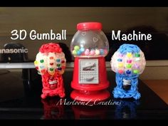 Rainbow Loom 3D Gumball Machine: Self Standing Charm