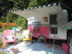 Featured Trailer - Pink Shasta Compact FOR SALE! littlevintagetrailer.com