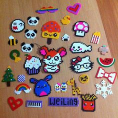 Pyssla beads collection by no_game_no_life_