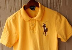 NWOT Polo Ralph Lauren Big Pony & #3 Rugby Shirt Yellow Youth Boy Size Large  #RalphLauren #PoloRugby