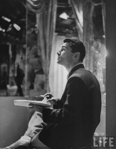 Writer and director Rod Sterling, CBS Television Studios, New York, Photograph by Loomis Dean for Life Magazine Night Gallery, Old Shows, Tv Land, Classic Tv, Classic Hollywood, Thriller, Twilight, Movie Tv, The Past