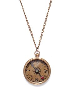Vintage Compass Necklace - JewelMint ( I don't usually pin Jewelry but there is something about this I adore. Cute Jewelry, Jewelry Box, Jewelry Accessories, Fashion Accessories, Fashion Jewelry, Jewlery, Jewelry Necklaces, Body Jewelry, Jewelry Ideas