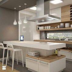 Consider Installing Kitchen Islands To Go With Your Unique Kitchen Design – Home Dcorz Modern Kitchen Design, Interior Design Kitchen, Modern Design, Minimal Kitchen, Interior Livingroom, Interior Ideas, Home Decor Kitchen, New Kitchen, Family Kitchen