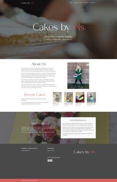 Bespoke cake maker 'Cakes By Els' Cake Makers, Vegan Cake, Chester, Bespoke, Web Design, Cakes, Taylormade, Design Web, Kuchen