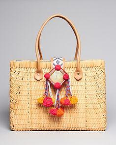 Tory Burch Tote - Rattan Handbags - All Handbags, Wallets & Small Accessories - Bloomingdale's Diy Sac Pochette, Yarn Crafts, Me Too Shoes, Straw Bag, Tory Burch, Luxury Fashion, Reusable Tote Bags, Purses, Rattan