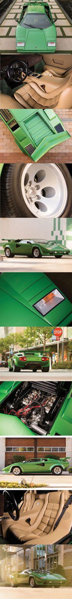1978 Lamborghini Countach LP400 S / Italy / green / 350 hp / 82 manufactured / www.autovisie.nl / Bertone Marcello Gandini / 16-86