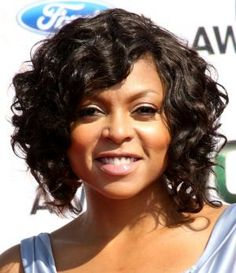If you have curly hair, short hair can be tricky, but it is do-able. These short, curly hairstyles prove that you can look great with super curly hair that's cut above the shoulders.: Taraji P. Henson