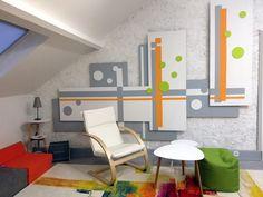 Déco murale, Espace de travail, partage, détente.
