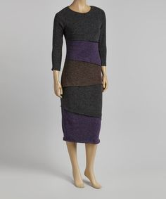 Take a look at this Avatar Imports Black Tiered Sweater Dress on zulily today!