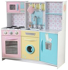 Kidkraft Wooden Play Kitchen kidkraft wooden kitchen pretend play set kids cooker washing