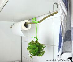 DIY kitchen roll holder / kitchen organization – scent-love similar great pr … – Small Balcony Decor Ideas