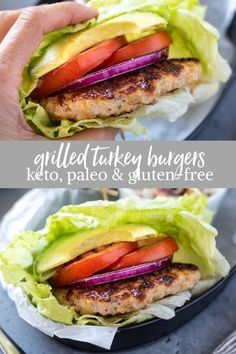 Learn how to make the best juicy grilled turkey burgers with no breadcrumbs. This healthy turkey burger recipe is gluten-free, keto and paleo! #turkeyburgers #grilling #glutenfreerecipes Paleo Turkey Burgers, Homemade Turkey Burgers, Ground Turkey Burgers, Turkey Burger Recipes, Paleo Burger, Greek Turkey Burgers, Healthy Grilling, Grilling Recipes, Easy Healthy Recipes