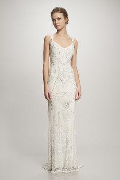 Elsa - #890046 - Ivory beaded art nouveau gown