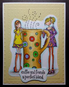 Stampin Bella, coffee, girls, copics