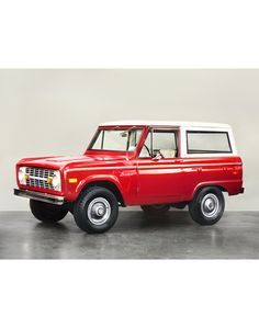 Shop - Classic Cars - Ford - 1972 FORD BRONCO - Red - Man Of The World Magazine