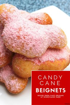 Treat yourself to something sweet this holiday season with Candy Cane Beignets from Cafe Orleans! Click through the image for the recipe.