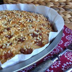 Rezept: Beerdigungskuchen Deluxe ~ Zuckerkuchen mit Apfelmus und Mandeln