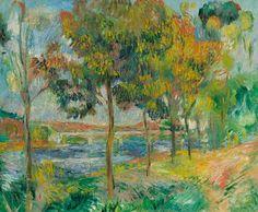 e Pont d'Argenteuil   -   Pierre Auguste Renoir,  circa 1888.  Impressionism  Oil on canvas.54 x 65 cm.