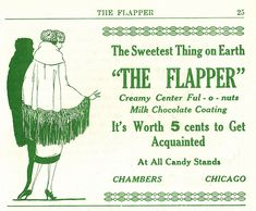 The Flapper magazine, The Flapper Candy ad, May 1922