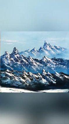 Canvas Painting Landscape, Abstract Landscape, Acrylic Paintings, Landscape Edging, Painting Art, Painting Flowers, Painting Tools, Acrylic Art, Abstract Art