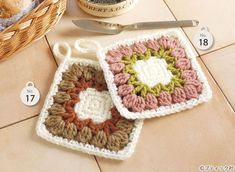 Crochet Potholders, Crochet Coaster, Bath Mat, Pot Holders, Diy And Crafts, Coasters, Stitch, Knitting, Handmade