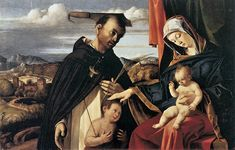 Attributed to Lorenzo Lotto (1480-1556) Madonna and Child with St Peter Martyr  _   Searching centuries of History, Art, Nature, & Everyday Life for Unique Perspectives, Uncommon Grace, & Unexpected Insights.