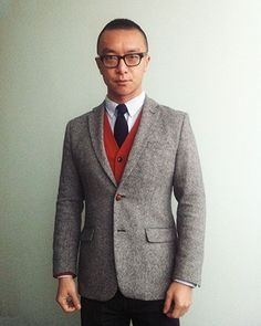 a well-fit blazer should make you look thinner. great example of a non-traditional model showing how a real man might wear something.