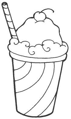 Food Coloring Pages Kitchen Stuff Ice Cream Icecream Craft