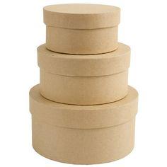 Papermania Bare Basics 3 Circular Nesting Boxes
