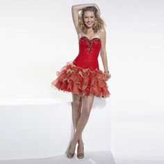 Red 2017 Crystal Sweetheart Neck Short Homecoming Dresses 8th Grade Graduation Dress Tiered Prom Gown Hot Sale H15036