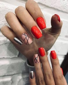 You are in the right place about nails sencillas Here we offer you the most beautiful pictures about the nails you are looking for. Stylish Nails, Trendy Nails, Hot Nails, Hair And Nails, Dark Nails, Nail Candy, Nagel Gel, Creative Nails, Gorgeous Nails
