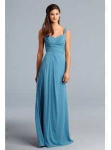 Bridesmaid - Empire Sweetheart Floor-length Chiffon Wedding Party / Bridesmaid Dress with Side-draping