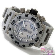 Invicta Watches Men's Subaqua Nitro Collection Chronograph Grey Polyurethane Swiss Made Watch