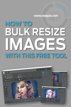 Resize multiple images at once… If you want a lightweight Batch image editor that you can use to perform basic editing tasks such as cropping, renaming, resizing and even applying watermarks to your pictures, then consider rEASYze. You can work with single or multiple images simultaneously. Bulk Image, Multiple Images, Image Editor, How To Apply, Pictures, Free, Photos