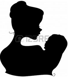 Mother and Child Silhouet Template/ Stencil.  Great Mural (Chalk Paint) in Nursery :-) From Lorelyn Medina on 123RF.com Flower Silhouette, Silhouette Files, Silhouette Design, Silhouette Cameo, Foto 3d, Baby Drawing, Wedding Stickers, Paper Stars, Fathers Day Cards