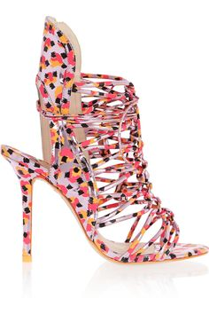 Sophia Webster|Lacey metallic leather sandals|NET-A-PORTER.COM