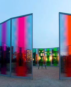 olafur eliasson colorful pavilion at des moines art center designboom