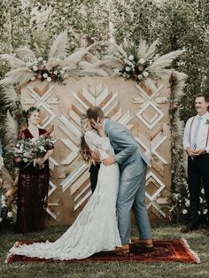 50 Wedding Ceremony Backdrops That Will Take Your Breath Away Boho timber screen wedding ceremony backdrop topped with wild floral arrangements featuring pampas grass and protea Diy Wedding, Dream Wedding, Wedding Shoes, Nautical Wedding, Garden Wedding, Wedding Favors, Wedding Ideas, Wedding Dresses, Scandinavian Wedding