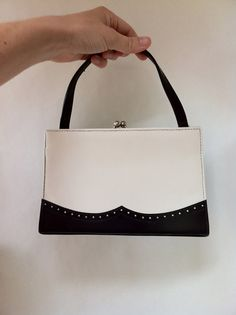 black and white saddle shoe detailed petite purse by RightBankGirl, $21.11