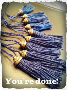 """technicallytoki: """"These came out better than I could anticipate! So I made a tutorial :) Each tassel cost me less than $. 30 because I got a great deal on the bead caps. I got about 100 for $5! Each..."""