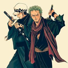 Roronoa zorro & trafalgar law one piece                                                                                                                                                                                 More
